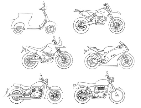 Hand draw style of motorcycle.