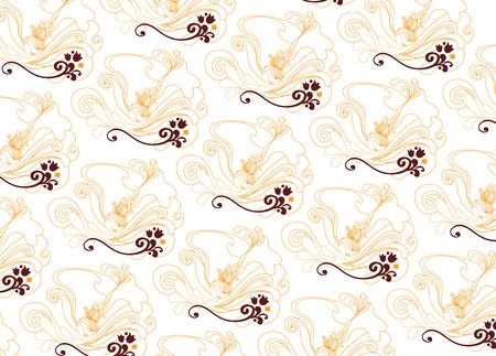 mandarin: mandarin flower pattern Illustration