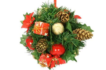 Albero di Natale decorazione isolato su bianco