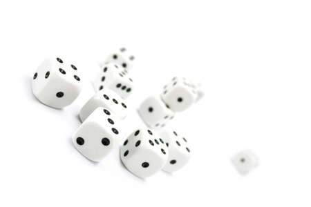 gambling dices on white background