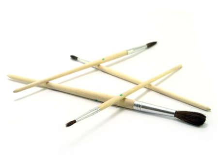 arte spazzole senza fine su sfondo bianco