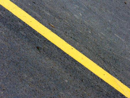 yellow diagonal road line Stock Photo
