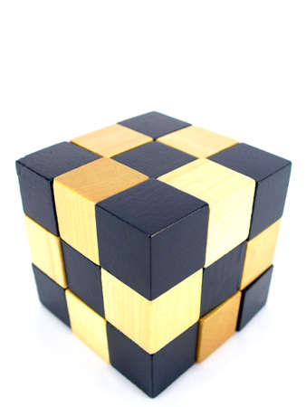 logic game cubes isolated on white