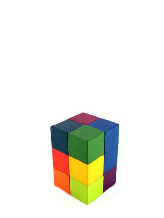 logica di gioco cubi isolato su bianco