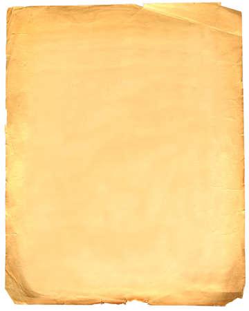 bianco della carta vecchia grunge isolato su bianco