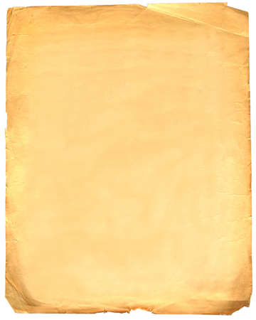 blank old grunge paper isolated on white Stock Photo