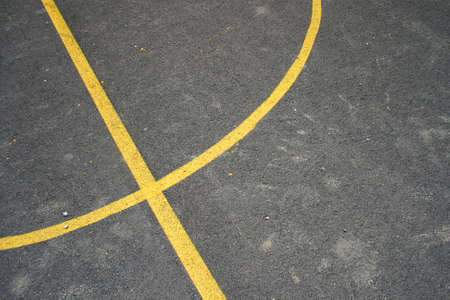 street basketball court, detail on lines