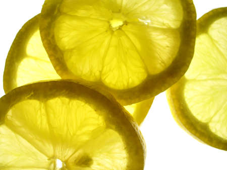 transparent yellow lemon slices