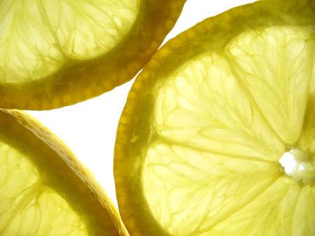 transparent lemons closeup