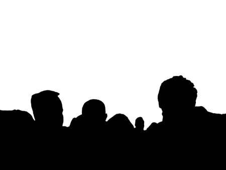isolated crowd Stock Photo - 1216888