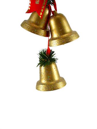 Decorazioni natalizie campane d'oro