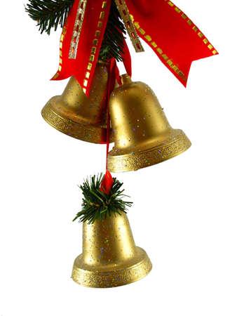 Christmas decoration golden bells