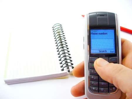 dialing: la celebraci�n de mano de marcaci�n de tel�fono celular
