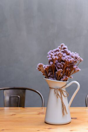 Dried flowers in a vase Stock Photo