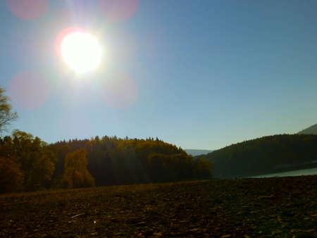 sun on autumn nature