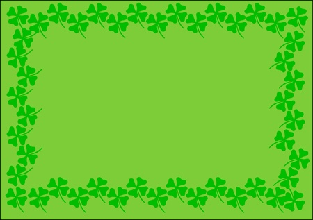st.patrick background green cloverleaf  Stock Vector - 17297615