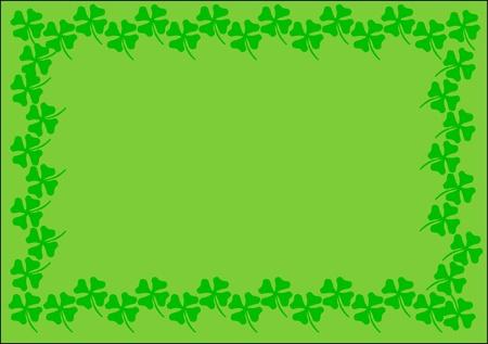 st.patrick background green cloverleaf