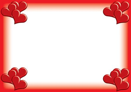 valentine photoframe with small hearts  Stock Photo - 17380799