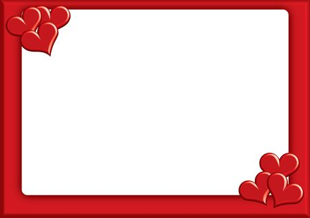 valentine photoframe with small hearts Stock Photo - 17380796