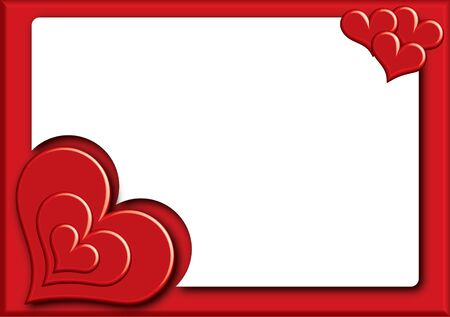 valentine photoframe with small hearts Stock Photo - 17380806