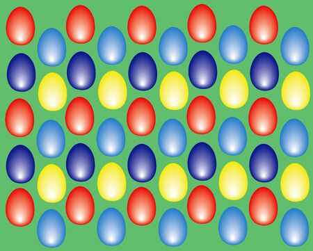 eastern eggs background colored on light green