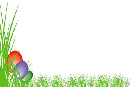 easter background with colored egg