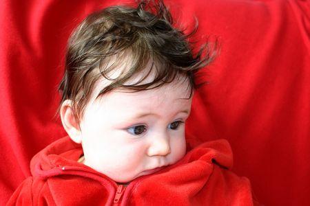 unbelievable: Baby looking astonished Stock Photo