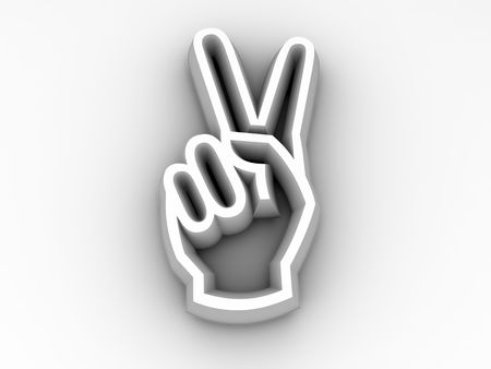 insulting: Peace or Friend Victory Hand Sign Stock Photo