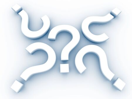 3D Question Marks Stock Photo - 3870396