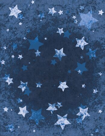 Christmas Stars Wrapping Paper Pattern Design Stock Photo