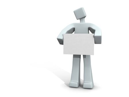 3d man holding a message board Stock Photo - 4481390