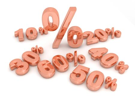 installment: Percentage on the floor 3d illustration Stock Photo