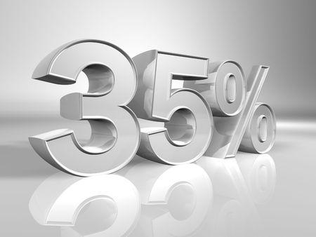 Thirty-five percent 3d illustration illustration