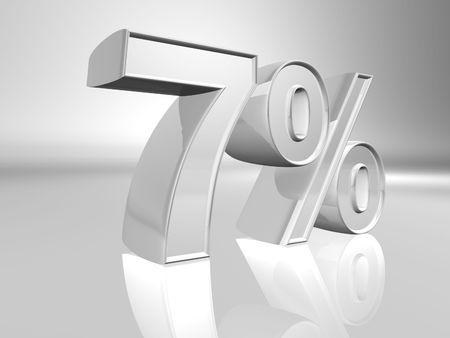 Seven percent 3d illustration illustration