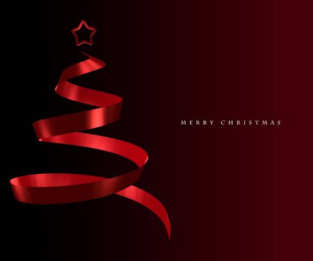 elegant christmas: Elegant Christmas tree abstract design