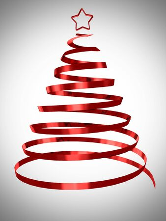 Christmas tree abstract design 3d rendered Stock Photo