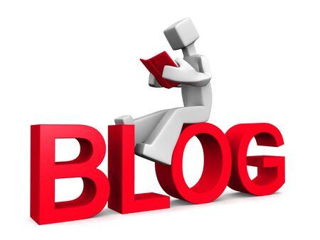 Internet blog reader concept 3d illustration illustration