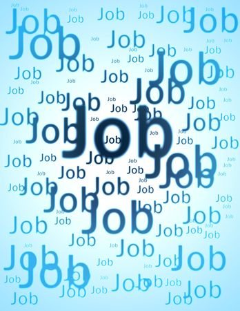 executive search: Job word overlapping and blur effect
