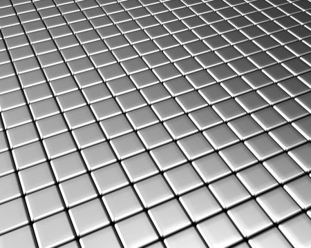 Square pattern aluminum background 3d rendered Stock Photo - 5060055