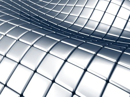 aluminum rod:  Abstract steel square background Stock Photo