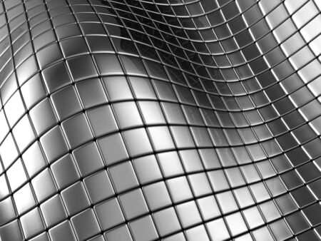 Abstract silver steel background with reflection 3d illustration Stock Illustration - 5060056