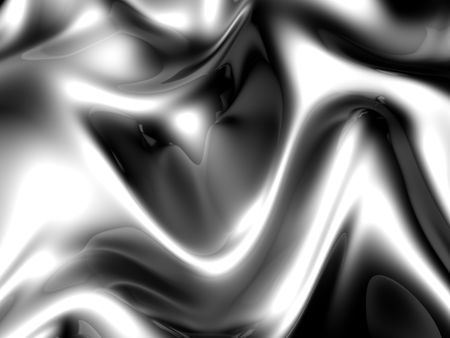 twists: Abstract twists fabric background with reflection 3d illustration