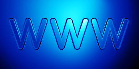 Elegant world wide web Internet symbol 3d illustration Stock Illustration - 5106306