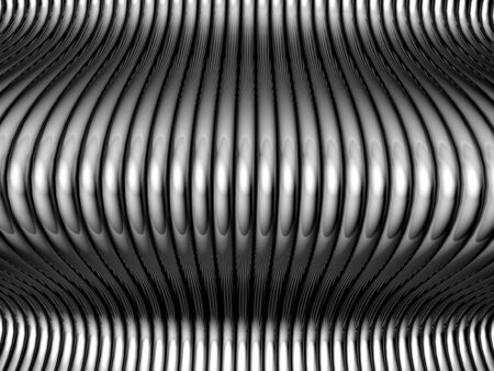 Abstract silver aluminum tube  background with reflection 3d illustration illustration