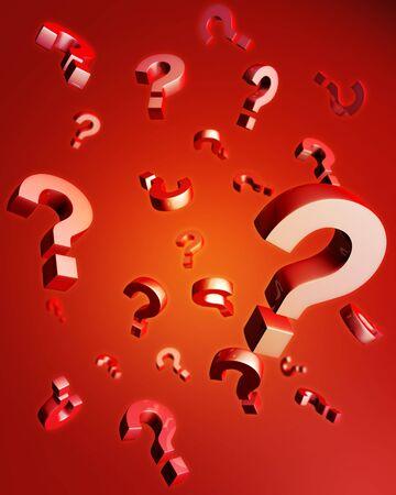 question mark: Domanda marchio rientrano riflessione con 3d illustration