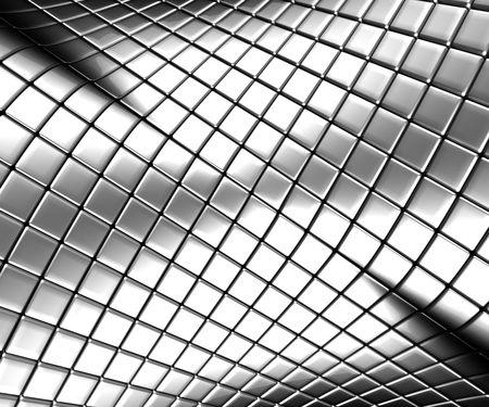 cromo: Resumen de acero de plata con la reflexi�n de fondo 3d illustration
