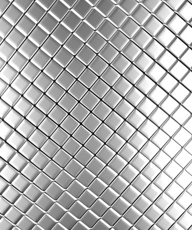 reiteration: Square pattern aluminum background 3d rendered