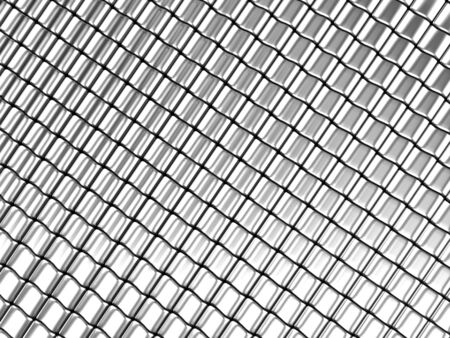 Square pattern aluminum background 3d rendered Stock Photo - 5273653