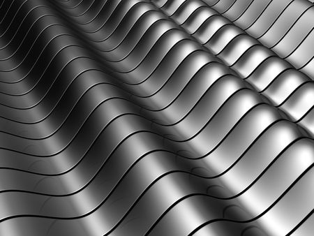 aluminum rod: Abstract silver aluminum tube  background with reflection 3d illustration Stock Photo