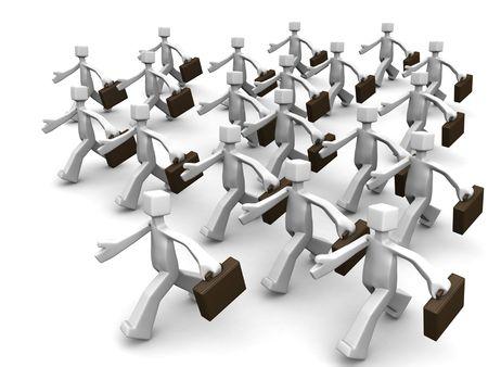 seguito: Leader del gruppo leader di venditore di business 3d illustration